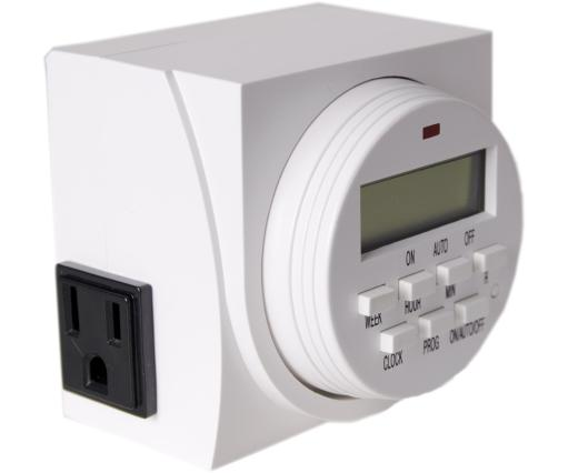 Hydrofarm Dual Outlet 7-Day Grounded Digital Programmable Timer, 1725W, 15A, 1 Second On/Off