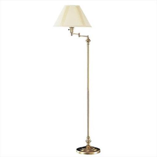 Cal Lighting BO-314-AB 150 W 3 Way Swing Arm Floor Lamp, Antique Bronze Finish