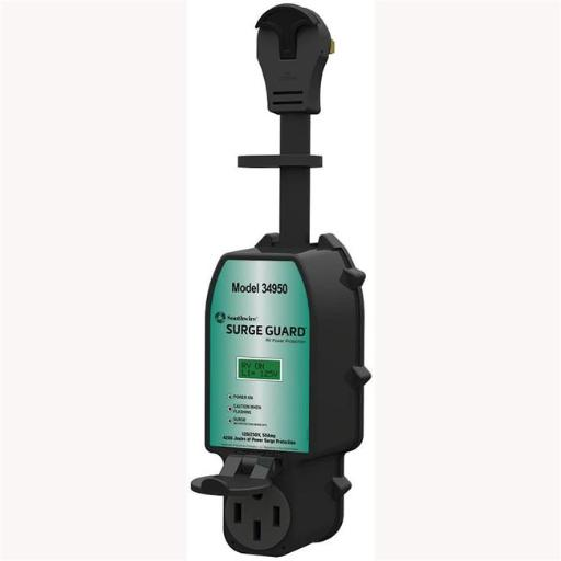 Technology 34930 30 amp Portable Surge Guard with LCD Display