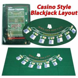 Trademark M340028 36 x 72 in. Blackjack Layout