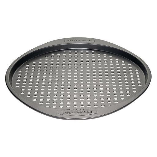 Farberware Nonstick Bakeware 13-Inch Round Pizza Crisper Gray