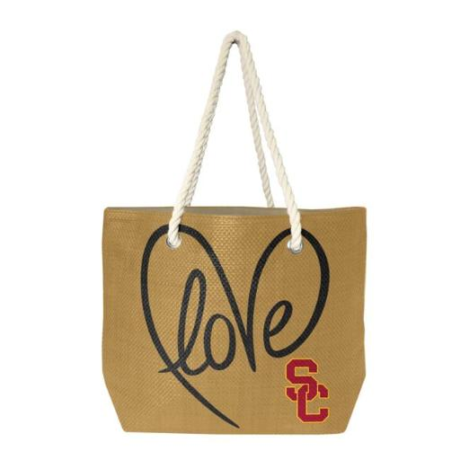 Little Earth 1C00651-USCT-NATR-BLCK NCAA Rope Tote - USC Trojans, Black R3RTXAS38DFJUYDT