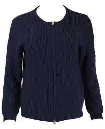 Gant Women's Zip Cardigan (481405), Evening Blue, Small
