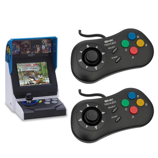 NEOGEO Mini International Video Game Console with 40 Games and 2x Black Mini PAD Controller