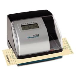 Acroprint Time Recorder 010182000 ES700 Digital AutomaticTime Recorder, Silver and Black