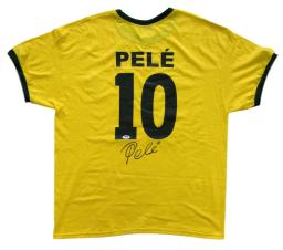 Pele Signed Brazil National Team Soccer Jersey PSA