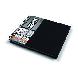 Crescent 1200017 Rendr No Show Thru Wirebound Sketchbook 32 Sheet 8X8