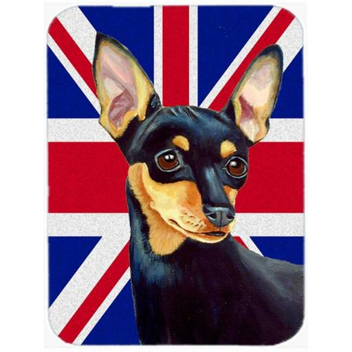 7.75 x 9.25 In. Min Pin With English Union Jack British Flag Mouse Pad, Hot Pad Or Trivet