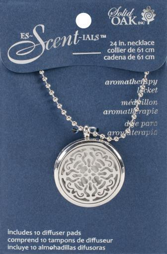 ES-Scent-IALS Aromatherapy Lockets & Pendants Round Locket W/Lace Design