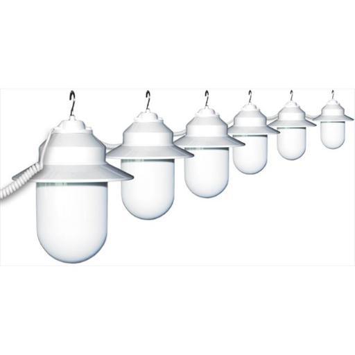 Polymer Products 6S01-01507-SSH Six Globe String Light - White, White Savannah Style Globes DDCF3D5D410C4D4C