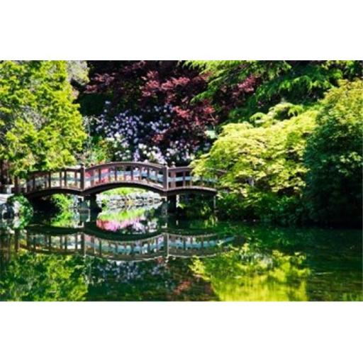Posterazzi PDDCN02TEG0072 British Columbia Vancouver Hately Gardens Bridge Poster Print by Terry Eggers - 29 x 19 in.