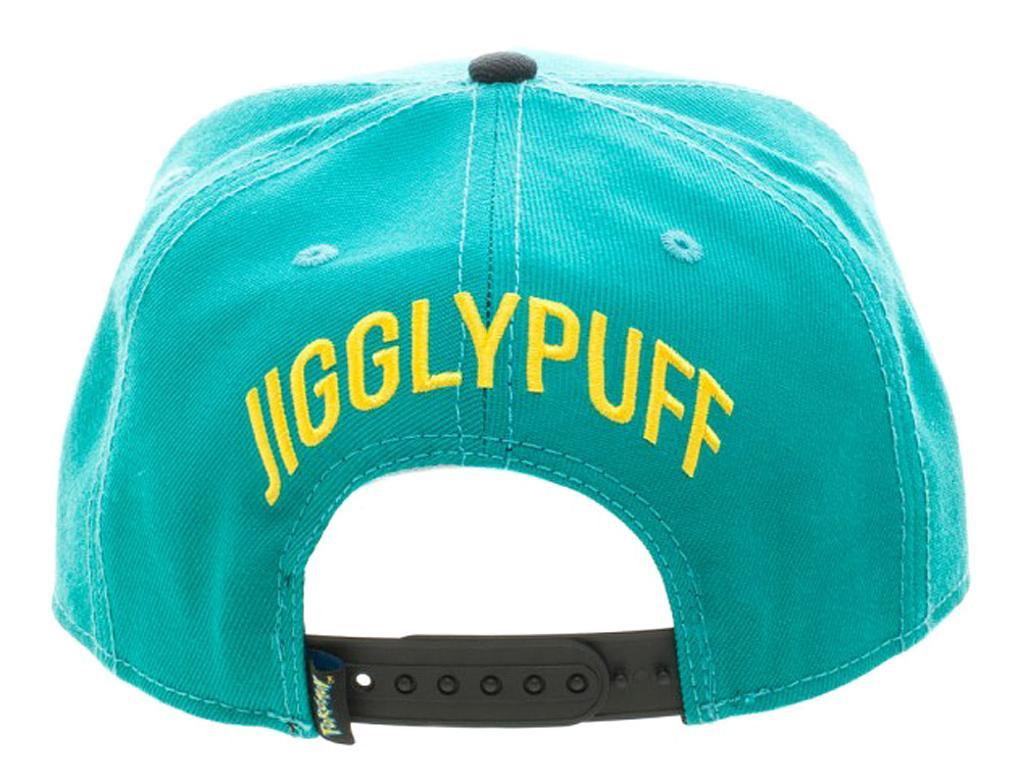 616dfd6fff0c42 Bioworld BIOWORLD Pokemon Jigglypuff Embroidered Snapback Cap Hat, Turquoise  | massgenie.com