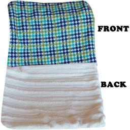Mirage Pet 500-132 AqPdBB Luxurious Plush Big Baby Blanket, Aqua Plaid