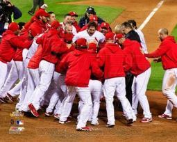 The St. Louis Cardinals Celebrate Winning Game 6 of the 2011 MLB World Series PFSAAOF07701