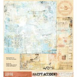 """Blue Fern Happy Accident Double-sided Cardstock 12""""x12""""-quirk"""