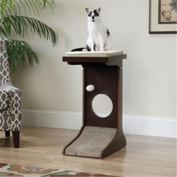 Sauder 416818 Adjustable Height Cat Tower - Espresso