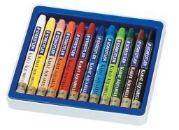 Staedtler-mars limited 223m12 karat aquarell watercolor crayon 12 color set