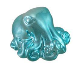 Metallic Blue Octopus Coin Bank