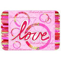 Carolines Treasures PJC1115LCB Love Is A Circle Valentines Day Glass Cutting Board, Large PJC1115LCB