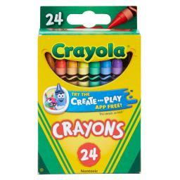 Crayola llc crayola crayons 24 color peggable 3024