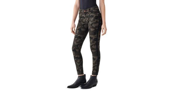 DL1961 Womens Tencel Camouflege Ankle Jeans
