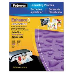 Fellowes FEL5245801 Laminating Pouches  3 mils  Letter Size  100-Pk