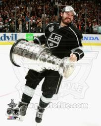 Drew Doughty with the Stanley Cup Game 5 of the 2014 Stanley Cup Finals Sports Photo PFSAAQZ04101