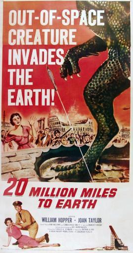 20 Million Miles To Earth Us Poster Bottom From Left: Joan Taylor William Hopper On Poster Art 1957 Movie Poster Masterprint QQHSUBPUJ2QFUOMY