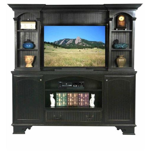 Eagle Furniture 11552NGSS-16181WPSS American Premiere 80 in. Entertainment Console & Hutch with 52 in. Opening, Summer Sage
