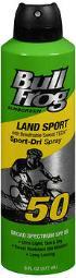 Bullfrog Marathon Mist Continuous Spray Sunblock Spf 50 - 6 Oz, Pack Of 3