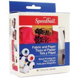 Speedball Block Printing Inks 1.25Oz 6/Pkg 3479
