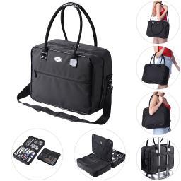 AW® Portable 2 Layer Makeup Travel Tote Bag Cosmetics Toiletry Organizer Nylon
