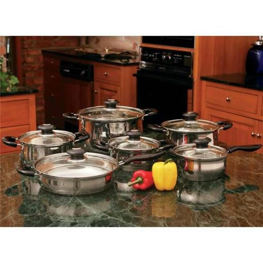 Wyndham House KTS123 Wyndham House 12 Piece Stainless Steel Cookware Set