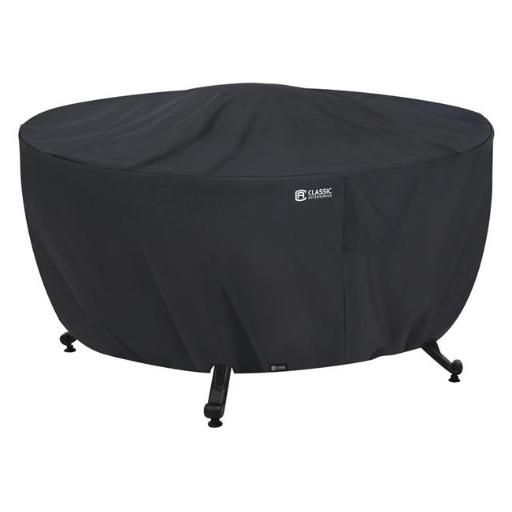 Classic Accessories 55-554-010401-00 Fire Pit Table Cover - Round, Black