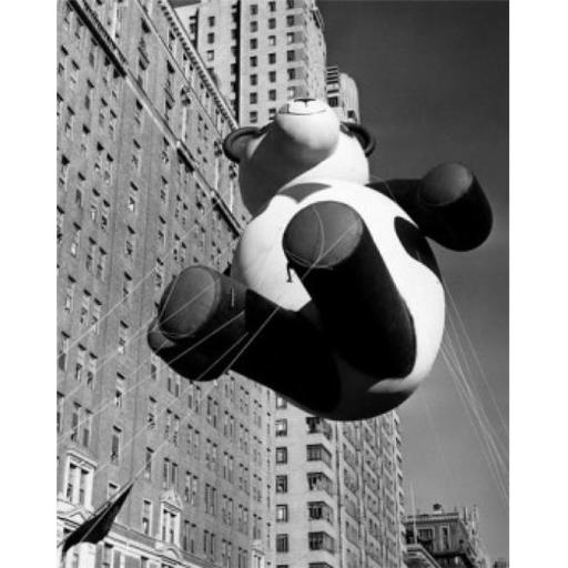 Posterazzi SAL2558197 Low Angle View of a Balloon at a Parade Macys Thanksgiving Day Parade New York City USA 1946 Poster Print - 18 x 24 in.