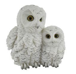 Owl Always Love You Snowy Owl Mother and Owlet Decorative Statue