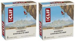 Clif Energy Bars Coconut Chocolate Chip 2 Box Pack