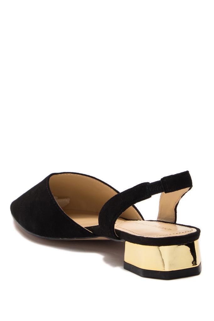 cf6222fce Adrienne Vittadini Adrienne Vittadini Womens Franny Leather Pointed Toe  SlingBack Slingback Flats | massgenie.com
