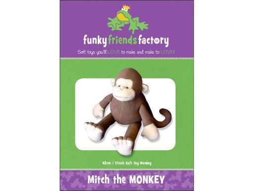 Fff50428 funky friends factory mitch the monkey ptrn