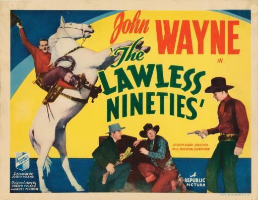 The Lawless Nineties Lobbycard From Top John Wayne Harry Woods Al Bridge John Wayne 1936 Movie Poster Masterprint WXGOJ1CEGZ7F39NX