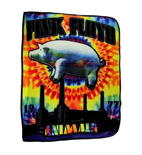 Pink Floyd Pig Tie Dye Animals Coral Fleece Throw Blanket