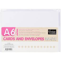 Couture Creations A6 Cards W/Envelopes 50/Pkg-White