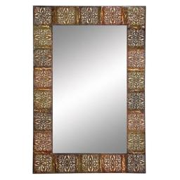 A nation 74361 36 in. Embossed Metal Frame Wall Mirror