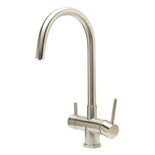 ALFI Brand AB2042-BSS Brushed Stainless Steel Kitchen Faucet & Drinking Water