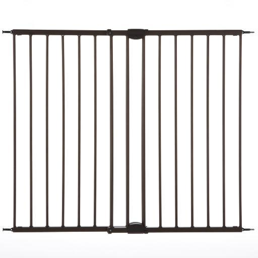 North States 4955 Matte Bronze North States Easy Swing And Lock Wall Mounted Pet Gate Matte Bronze 28 - 48 X 31