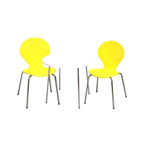 Gift Mark Modern Childrens Table and 2 Chair Set with Chrome Legs (Yellow Color Chairs) The Gift mark Modern Childrens Table and Two Chair set, is detailed with beautiful Chrome Legs. Our sculptured Chairs, add a bit of Color and Whimsy. The beautiful hand crafted Table and Chair set is the Ideal place for, Learning, Playing, or Learning. Makes the Perfect Gift, for Nursery, Play room, or Den.  All tools included for Easy Assembly.
