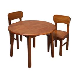 Gift Mark Childern's Natural Hardwood Round Table and Chair Set - Honey Finish