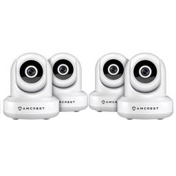 4-Pack Amcrest ProHD 1080P WiFi Wireless IP Security Camera - 1080P (1920TVL), IP2M-841 (White)