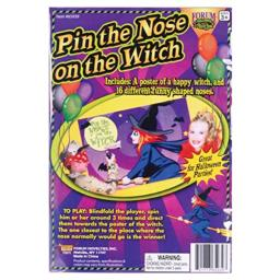 Forum Novelties 65939 Supplies Pin The Nose on the Witch Halloween Party Game, standard, As Shown