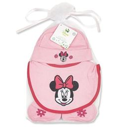 Minnie Mouse Hat, Bib, and Booties Gift Set